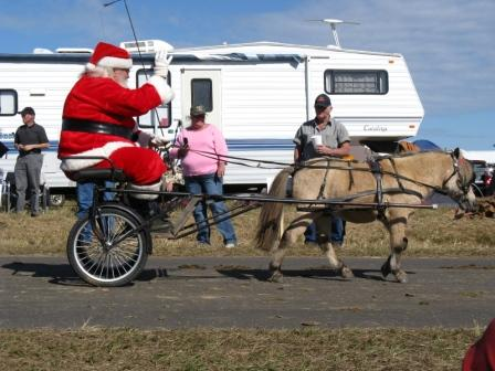 Even Santa came to Mule Day!